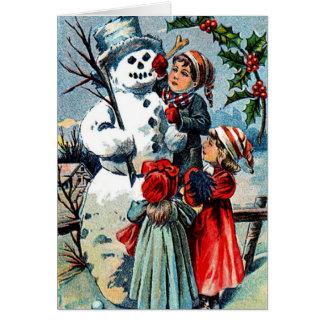 Vintage Holiday Greetings Card