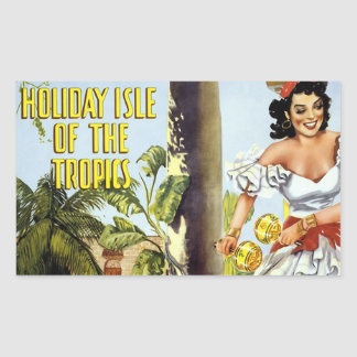 Vintage Holiday On Cuba Poster Stickers