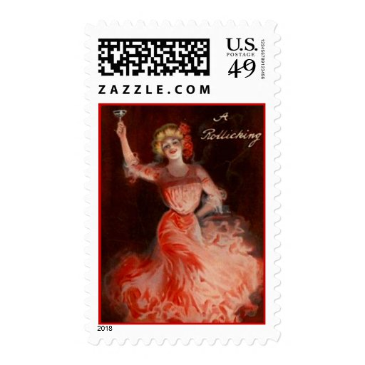 Vintage Holiday Party Postage