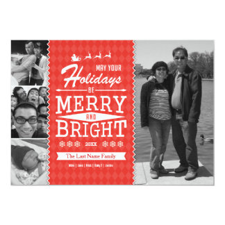 Vintage Holiday Photo Card (Double-sided)