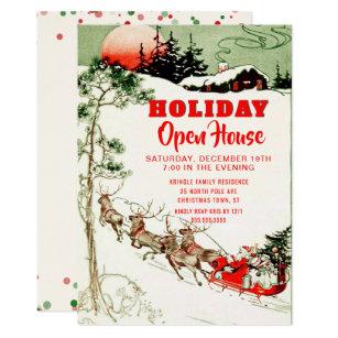 Open House Christmas Invitations Zazzle
