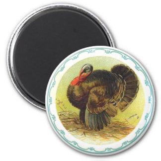 Vintage Holiday Thanksgiving Turkey Magnet