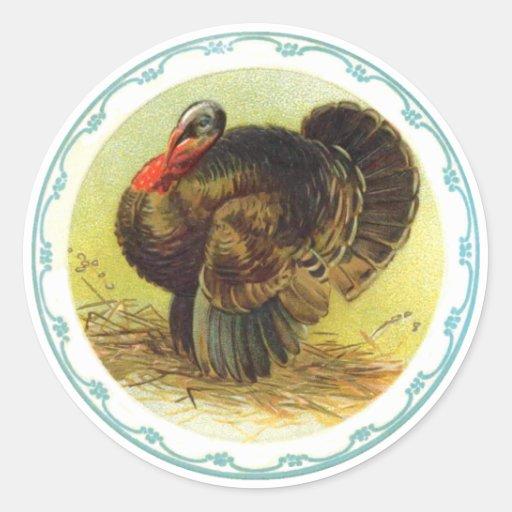 Vintage Holiday Thanksgiving Turkey Stickers