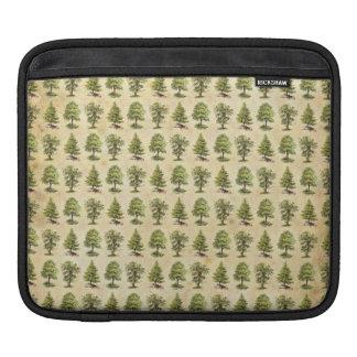 Vintage Holiday Trees Pattern iPad Sleeve