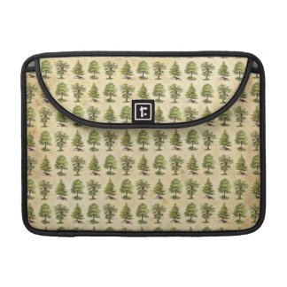 Vintage Holiday Trees Pattern Sleeve For MacBook Pro