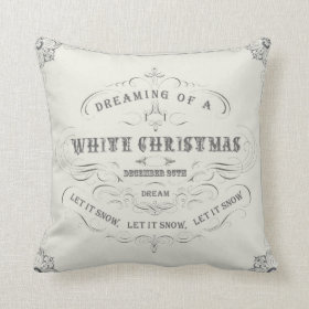 Vintage Holiday...White Christmas pillow
