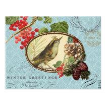 Vintage Holiday-Winter Bird-Postcard Postcard