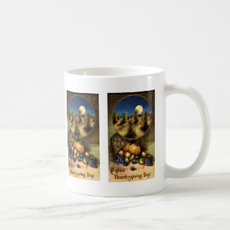 Vintage Holidays, A Glad Thanksgiving Day Coffee Mug