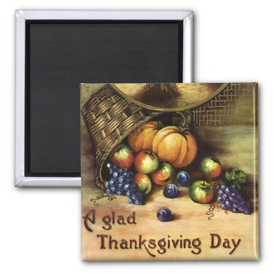 Vintage Holidays, A Glad Thanksgiving Day Magnet