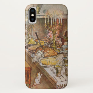 Vintage Holidays, Christmas Eve by Carl Larsson iPhone X Case