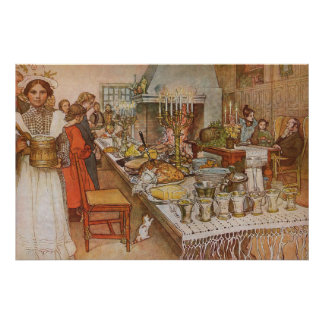 Vintage Holidays, Christmas Eve by Carl Larsson Poster