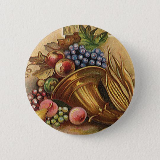Vintage Holidys, Thanksgiving, Harvest and Pilgrim Pinback Button