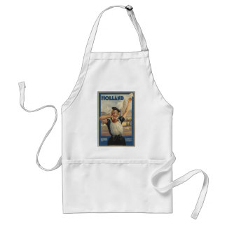 Vintage Holland Air Travel Adult Apron