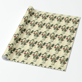 Vintage Holly Gift Wrapping Paper