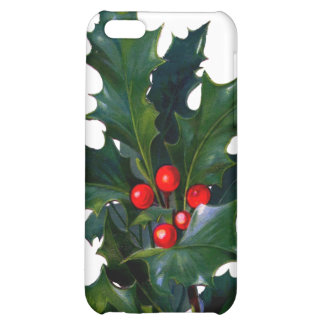Vintage Holly Cover For iPhone 5C