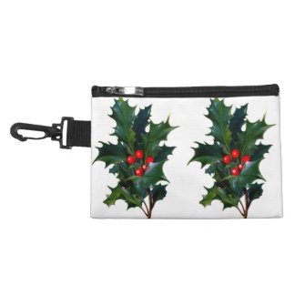 Vintage Holly Leaf Berry Accessories Bags