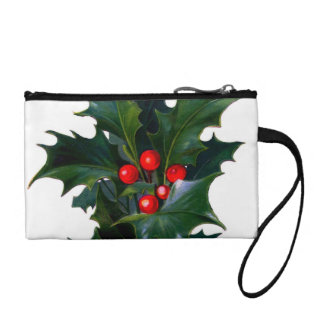 Vintage Holly Leaf Berry Coin Wallet