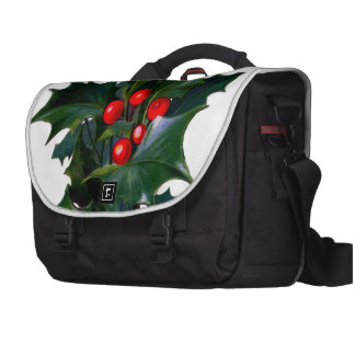 Vintage Holly Leaf Berry Bags For Laptop