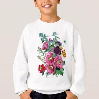 Vintage Hollyhock Blooms Sweatshirt