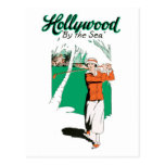 Vintage Hollywood Golf  Postcard