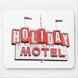 Vintage Hollywood Motel Sign Mouse Pad