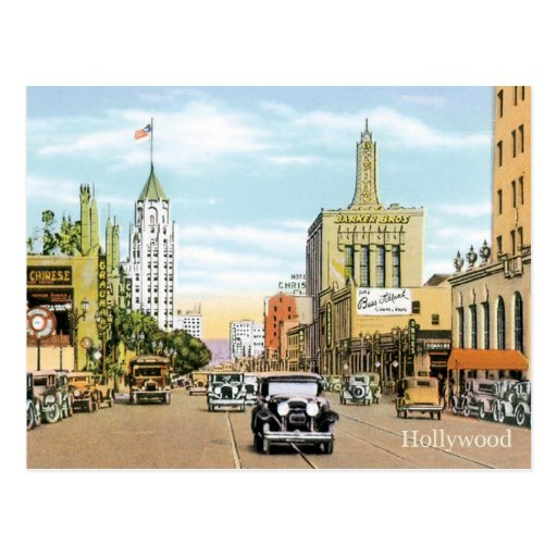 Vintage Hollywood Postcard
