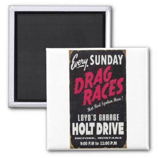 Vintage Holt Drive Drag Races distressed sign Magnet
