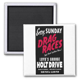 Vintage Holt Drive Drag Races sign Magnets