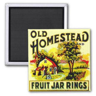Vintage Home Homestead Fruit Jar Ring Canning Jars Magnets