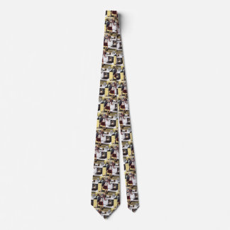Vintage Home Interior, Mom in the Kitchen Cooking Neck Tie