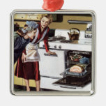 Vintage Home Interior, Mom in the Kitchen Cooking Christmas Ornaments