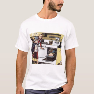 Vintage Home Interior, Mom in the Kitchen Cooking T-Shirt