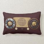 Vintage Home Radio Receiver Pillow