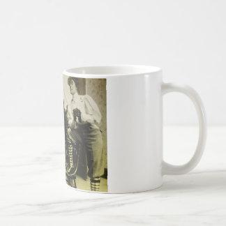 Vintage home scene coffee mug