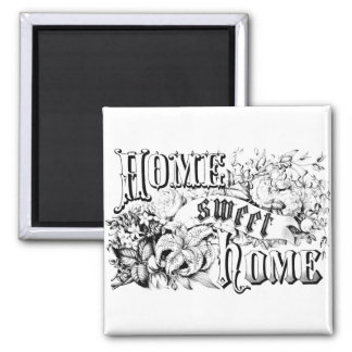 Vintage Home Sweet Home Home Decor and Gifts 2 Inch Square Magnet