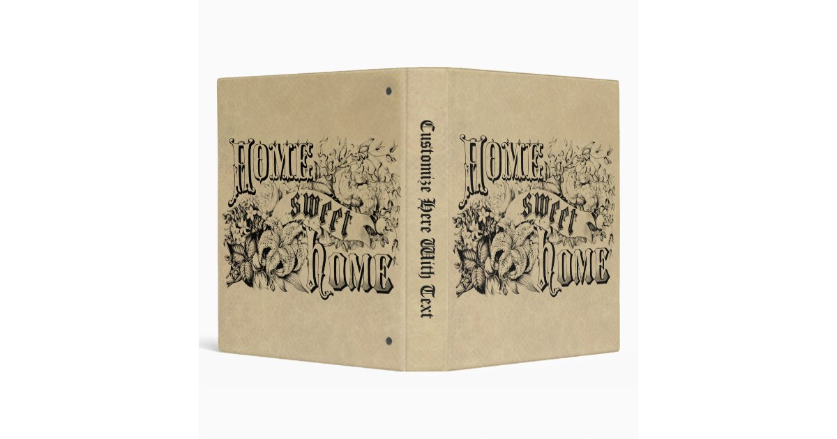 Vintage Home Sweet Home Home Decor And Gifts Binder Zazzle