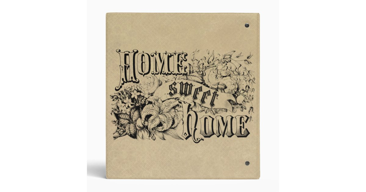 Vintage home sweet home home decor and gifts binder zazzle for Home decor and gifts