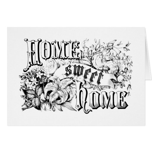 vintage home sweet home home decor and gifts card zazzle