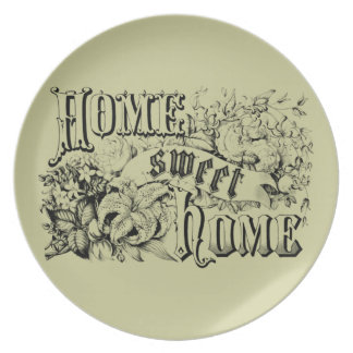 Vintage Home Sweet Home Home Decor and Gifts Party Plates