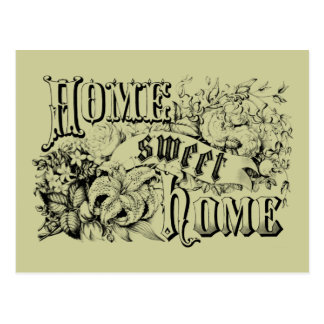 Vintage Home Sweet Home Home Decor and Gifts Postcards