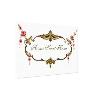 Vintage Home Sweet Home Small Canvas Print