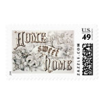 Vintage Home Sweet Hope Currier & Ives Postage Stamp