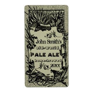 Vintage HomeBrewed Beer Label Gray