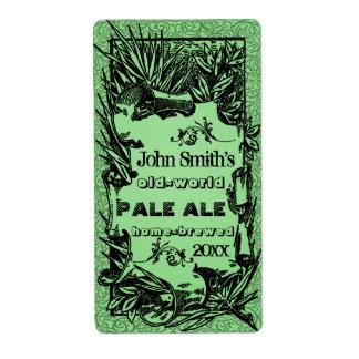 Vintage HomeBrewed Beer Label Green