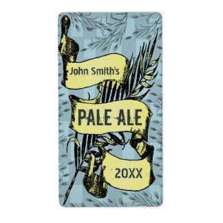 Vintage HomeBrewed Beer Label Scroll Blue