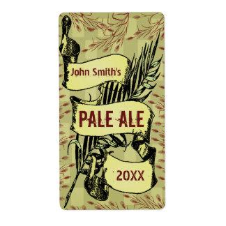 Vintage HomeBrewed Beer Label Scroll Gold-Red