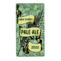 Vintage HomeBrewed Beer Label Scroll Green