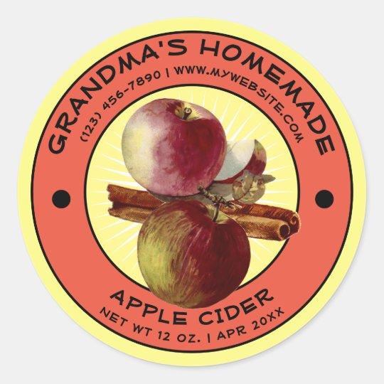 Vintage Homemade Apple Cider Label Template