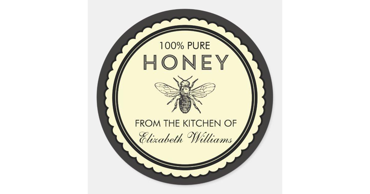 Vintage Homemade Honey Stickers Zazzle Com