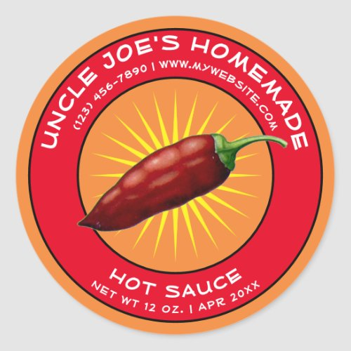 Vintage Homemade Hot Sauce Label Template